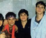 Da esquerda para a direita: Maurício, Cazuza, Frejat, Guto e Dé, a formação original do Barão Vermelho