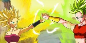 FanArt sobre Caulifla y Kale en Super Saiyajin