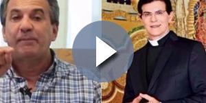 O pastor criticou o padre e a igreja católica