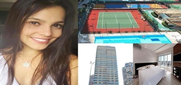 Emilly aluga apartamento na Barra da Tijuca, Rio de Janeiro (Foto: Montagem/Reprodução)