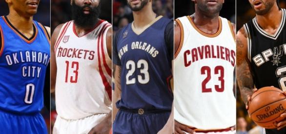 Mejor Quinteto del Año (vía Twitter - NBA)