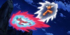 Goku vs Gohan en el episodio 90