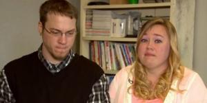 O pai Mike e a madrasta Heather Martin