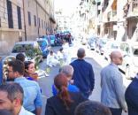 Il luogo dell'omicidio, a Palermo, nel quartiere Zisa