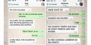 As conversas que os cachorros teriam com seus donos no WhatsApp