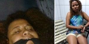 Daiane enviou à família fotos amordaçada e áudio no qual se passava por sequestrador (Foto: Reprodução/Youtube)