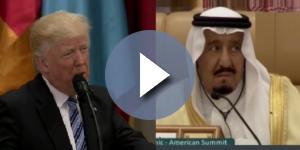 Donald Trump in Saudi Arabia, via Twitter