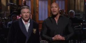 The Rock and Alec Baldwin, via Twitter