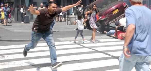 NYC Times Square car crash incident - dramatic arrest of wild-eyed ... - thesun.co.uk