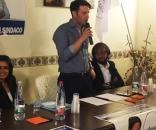 Daniele Calvo in occasione dell'apertura della campagna elettorale