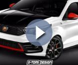 Render di Fiat Argo Abarth che potrebbe essere venduta come Punto in Italia