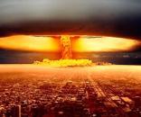 Reprodução fictícia de uma explosão nuclear