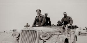"""Erwin Rommel, mariscal alemán conocido como """"el Zorro del Desierto""""."""