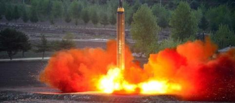 Test cu rachetă balistică efectuat de Coreea de Nord săptămâna trecută - Foto: Agenția KCNA via REUTERS