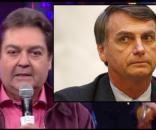"""Faustão mandou """"mensagem subliminar"""" para Bolsonaro."""