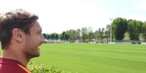 Francesco Totti a Trigoria (Credits: Francesco Totti Facebook)