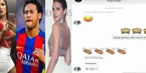 Neymar Jr. envia cantada para modelo que foi capa da Playboy nas redes sociais