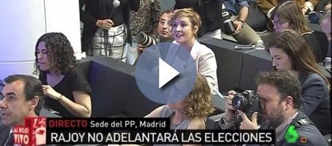 Cristina Pardo, en la Sede del PP de Madrid