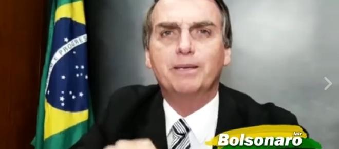 Jair Bolsonaro desmascara Villa em seu Facebook; veja o vídeo