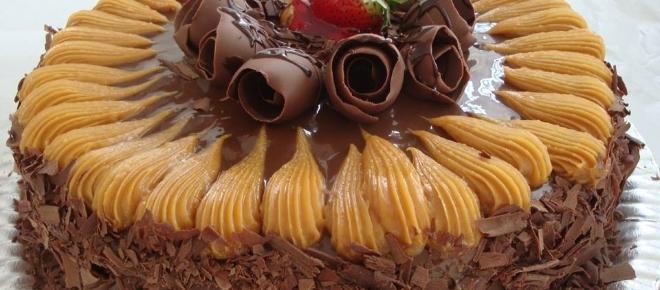 Como fazer bolo de chocolate com doce de leite