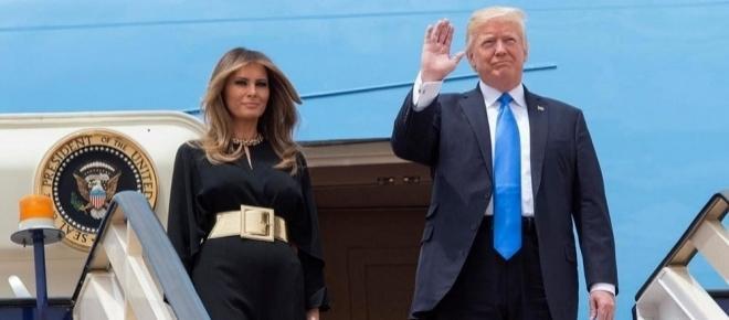 Trump a Roma con Melania, prevista una fitta agenda di incontri