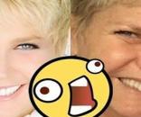 Apresentadora Xuxa com e sem maquiagem (Foto: Montagem/ Reprodução)