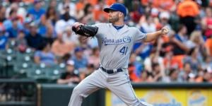 Danny Duffy in action, Flickr, Keith Allison CC BY-SA 2.0 https://www.flickr.com/photos/keithallison/27441477681
