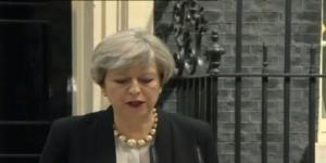 Theresa May en rueda de prensa