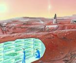 Concept of Mars colony (courtesy of NASA)