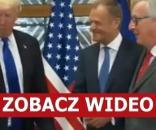 Donald Trump, Donald Tusk i Jean-Claude Juncker (źródło: TVN).