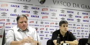Anderson Barros e Eurico Brandão, diretor e vice presidente do Vasco