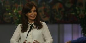 Cristina Fernández de Kirchner durante la entrevista que concedió a C5N