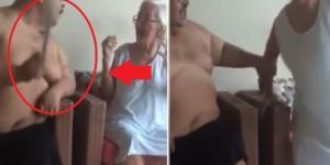 Homem bate na mãe em vídeo que revolta (Foto: Google)