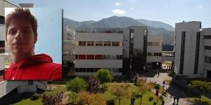 Il campus di Fisciano. Nel riquadro, Gianluca