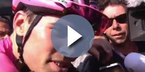 Tom Dumoulin a Piancavallo ha perso la maglia rosa.