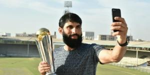 Misbah with the Trophy ..Pak vs Ban ICC CT trophy live streaming - image -BN library