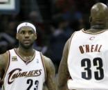 Shaquille O'Neal and LeBron James Photos Photos - Boston Celtics v ... - zimbio.com