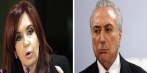 A argentina Cristina Kirchner chama Temer de palhaço