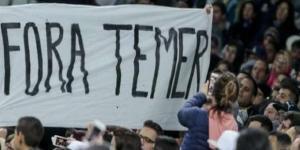 Temer é alvo de protesto no Rio