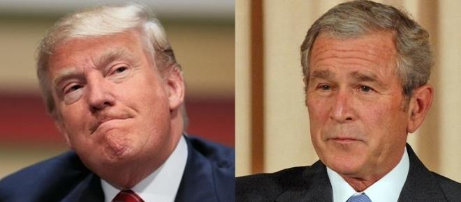Donald Trump is following in George Bush's footsteps