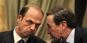 I due ex delfini di Silvio Berlusconi, Fini e Alfano, rischiano di finire entrambi rottamati