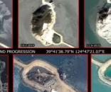 Coreea de Nord construiește insule artificiale în Marea Galbenă și le dotează cu instalații militare - Foto: captură Youtube
