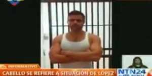 El canal del estado difundió en horas de la noche un vídeo sobre la situación de López Foto: NTN24