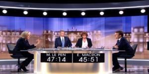 Le plateau du débat présidentiel diffusé sur TF1 et France 2