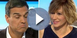 Susana Díaz y Pedro Sánchez en la entrevista