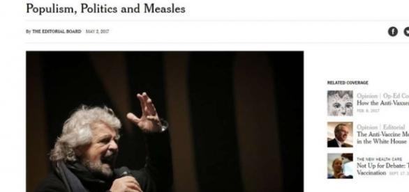 Vaccini: il New York Times contro il M5S - mobinews.it