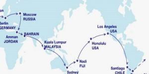 Un itinerario di viaggio per fare il giro del mondo