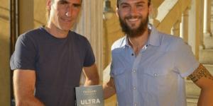 """Folco Terzani e Michele Graglia durante una delle presentazioni del libro """"Ultra"""" (foto di Pierluigi Benini)"""