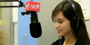 María durante un programa en directo