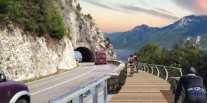 Pista ciclabile del lago di Garda, rendering progetto garda by bike